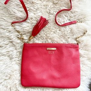 Gigi CHELSEA CROSSBODY Red Nappa Leather Purse